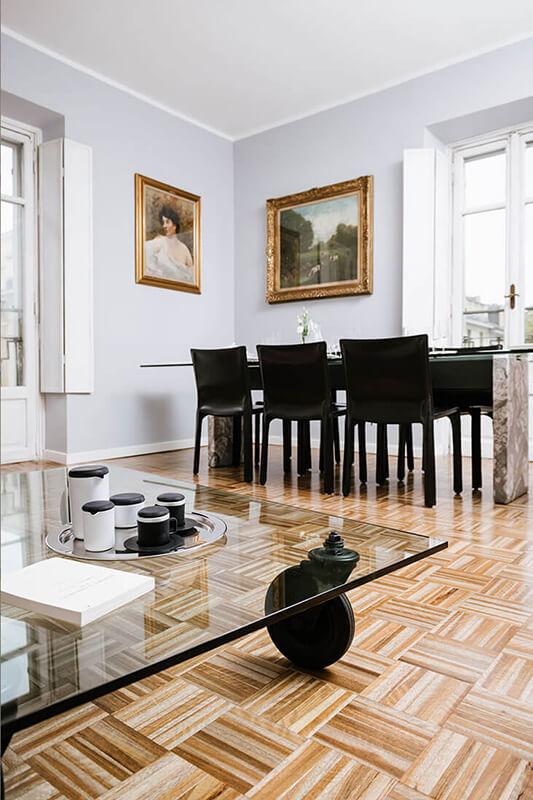 tavolo vetro parquet lavori casa design