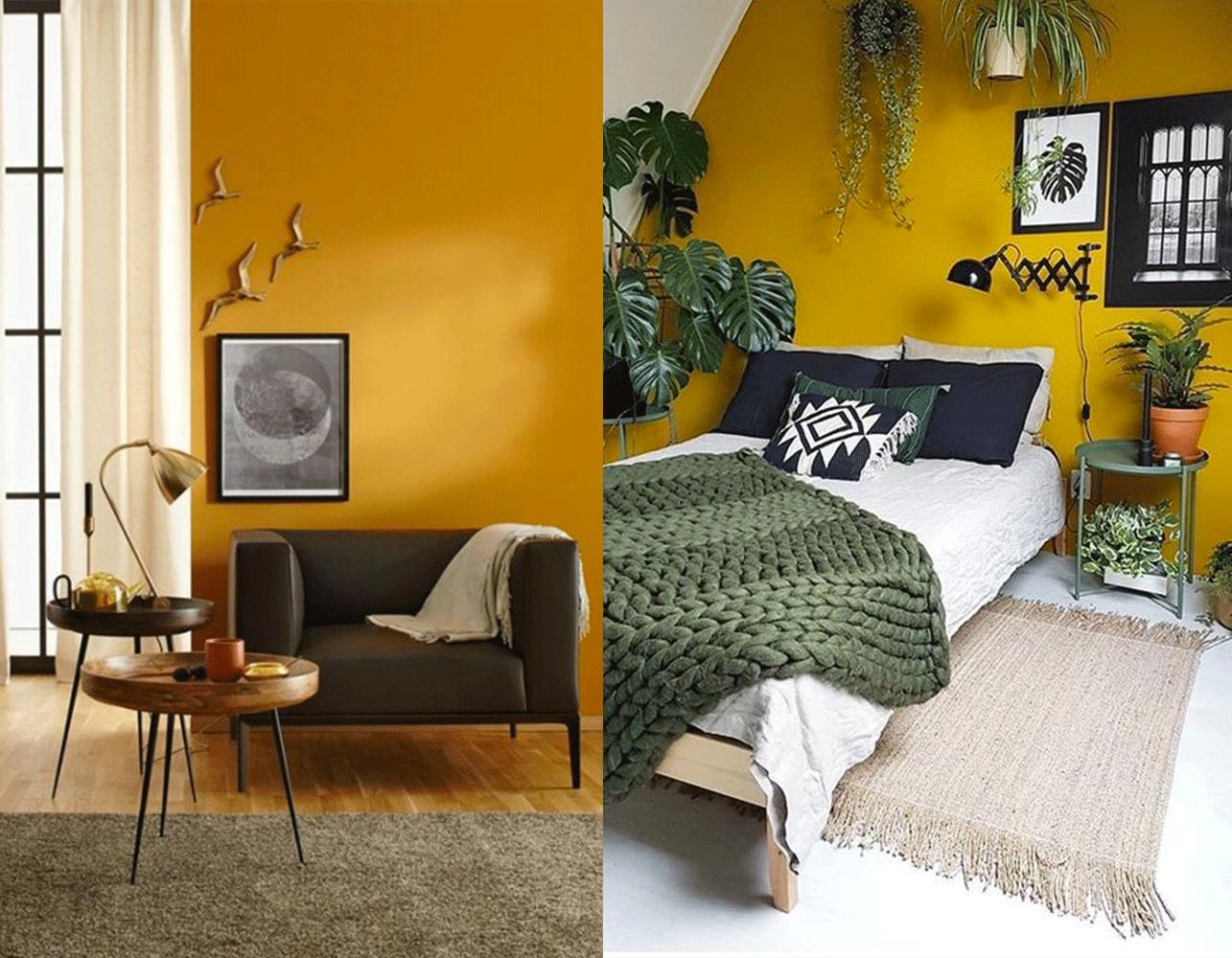 colore senape interior design