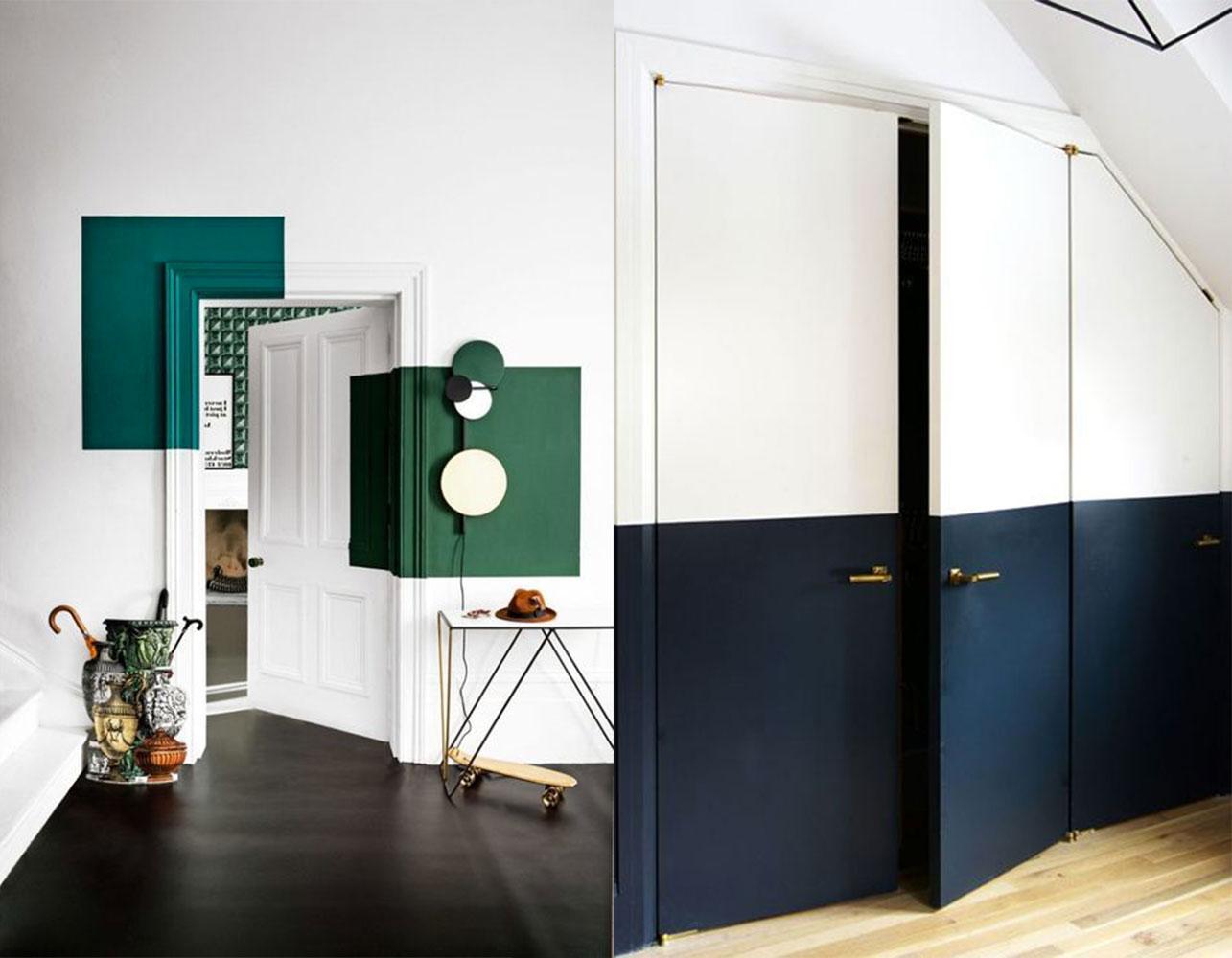 porta colorata elegante