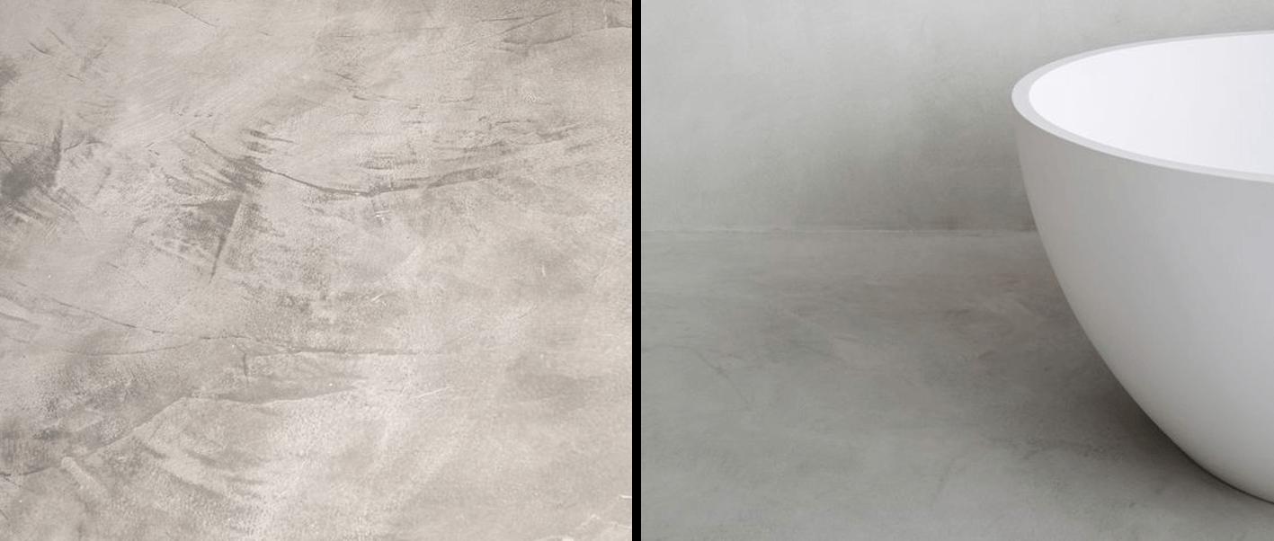 Texture resina vs texture microcemento