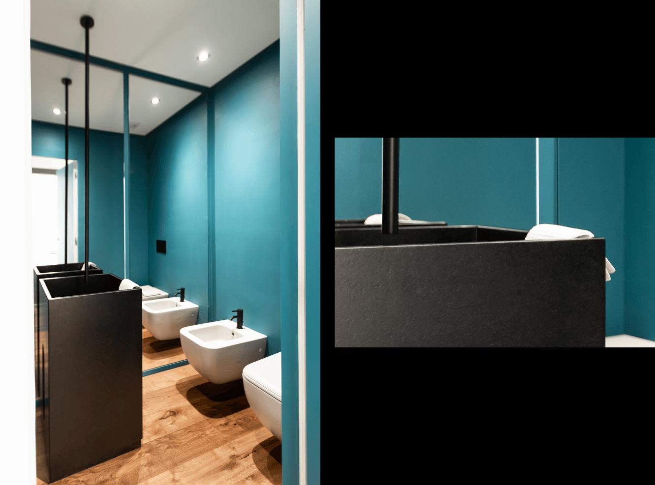 lavabo monolite in granite nero assoluto