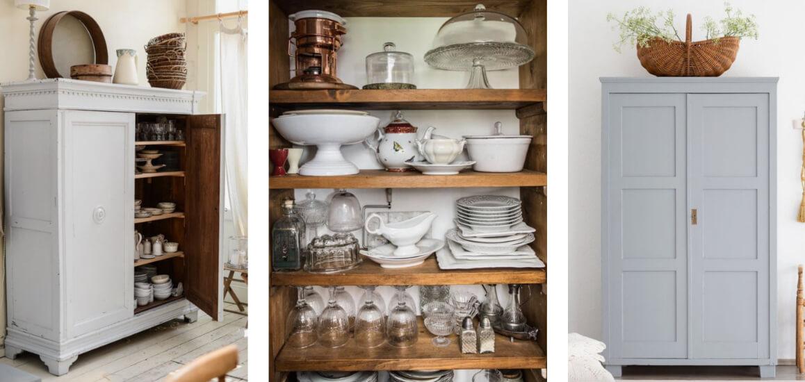 armadio vintage in cucina